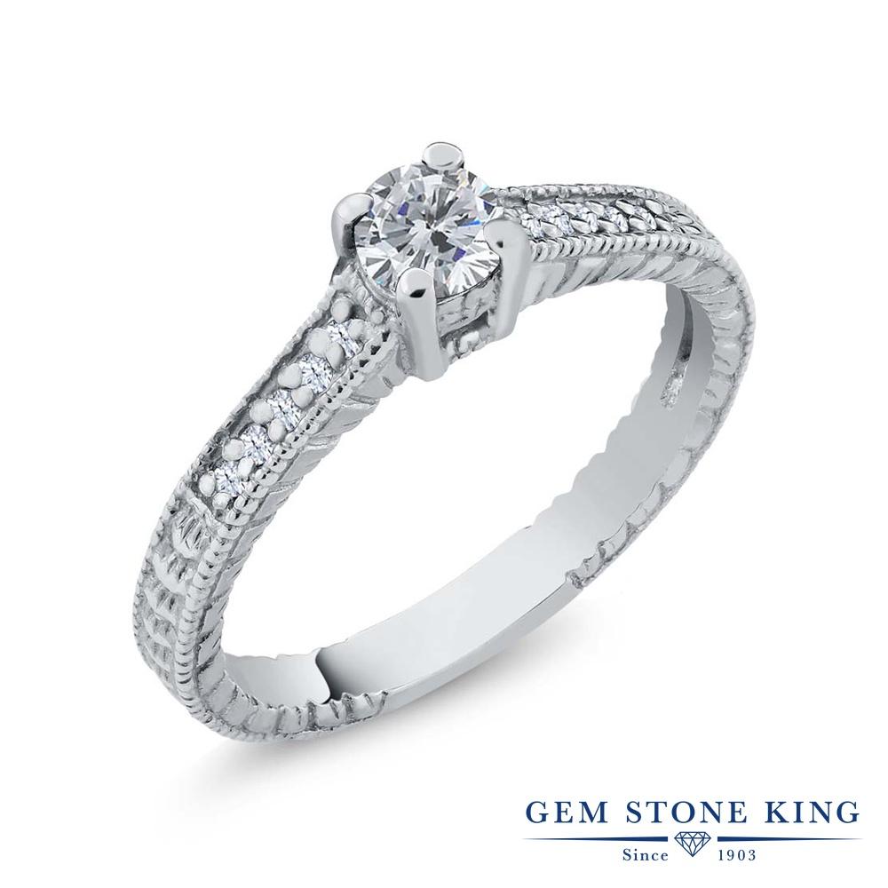 0.37カラット 天然 ダイヤモンド 指輪 レディース リング シルバー925 ブランド おしゃれ 細工 ダイヤ 小粒 マルチストーン 華奢 細身 天然石 4月 誕生石 プレゼント 女性 彼女 妻 誕生日
