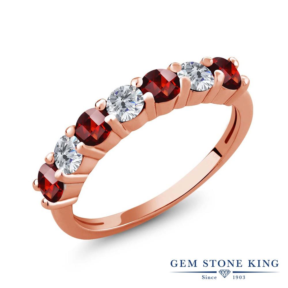 Gem Stone King 1.45カラット バンド 1.45カラット 天然 ガーネット 指輪 天然 ダイヤモンド シルバー925 ピンクゴールドコーティング 指輪 リング レディース 小粒 バンド 天然石 1月 誕生石 金属アレルギー対応 誕生日プレゼント, オーセンティック スタイル:e67d2a3e --- ww.thecollagist.com