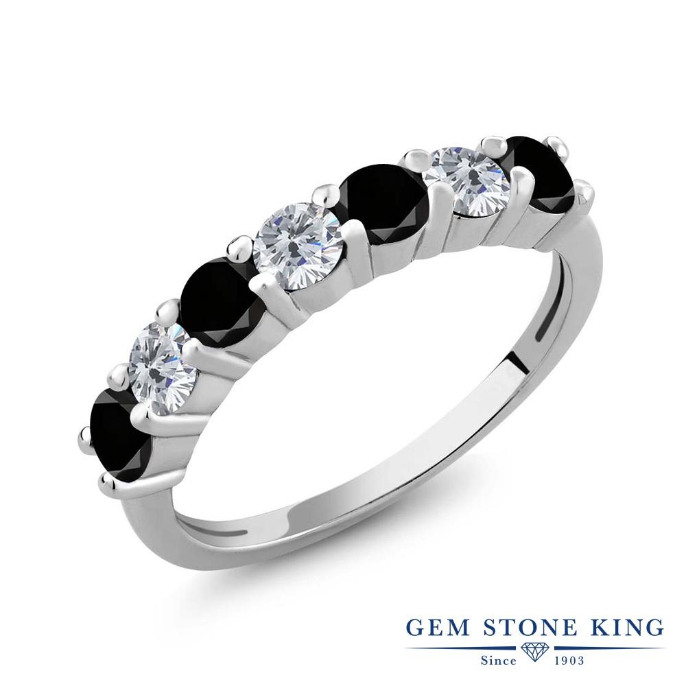 1.19カラット ブラックダイヤモンド 指輪 リング レディース シルバー925 ブラック ダイヤ 小粒 バンド 天然石 4月 誕生石 クリスマスプレゼント 女性 彼女 妻 誕生日