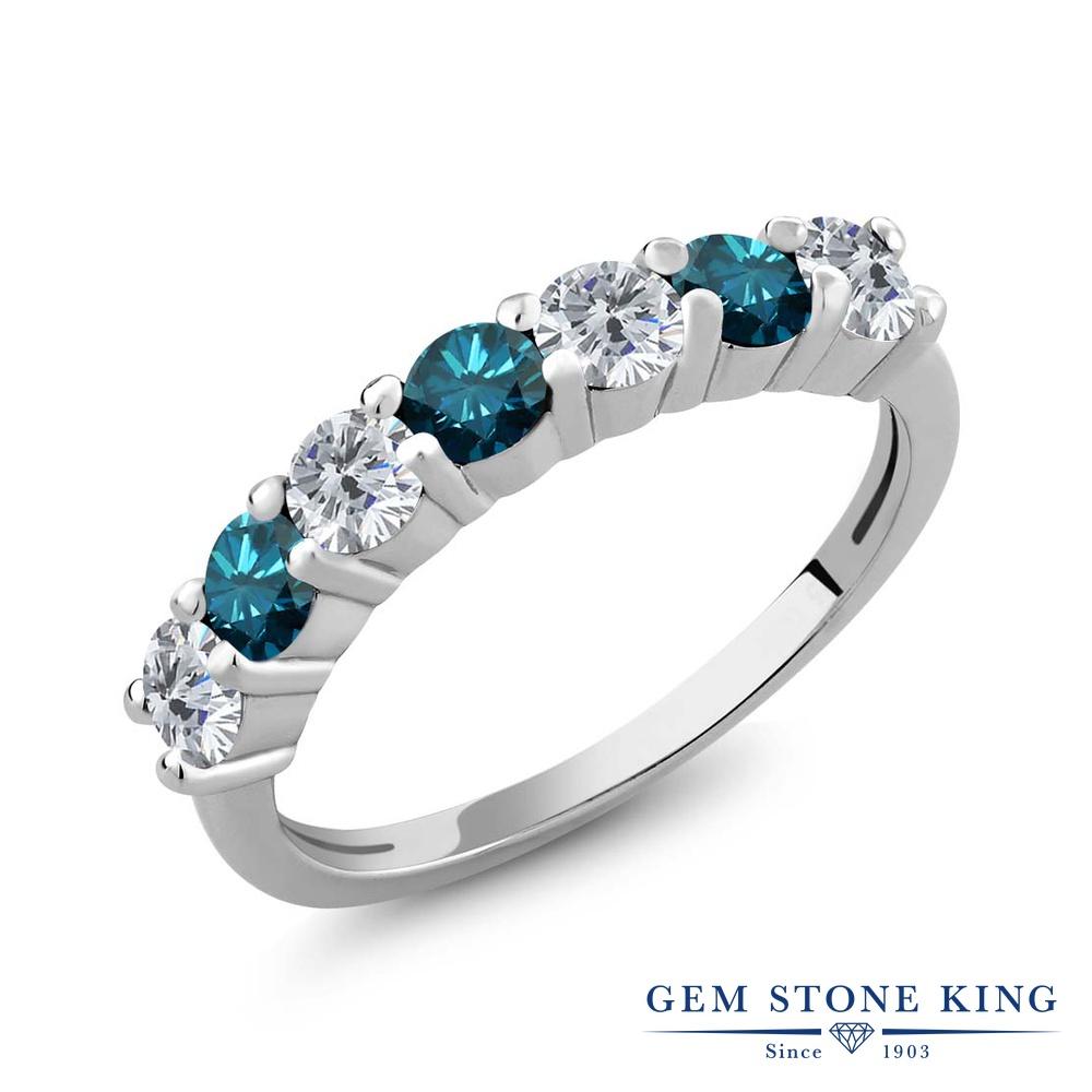 1.05カラット 天然 ダイヤモンド 指輪 レディース リング シルバー925 ブランド おしゃれ ダイヤ 小粒 バンド 天然石 4月 誕生石 プレゼント 女性 彼女 妻 誕生日