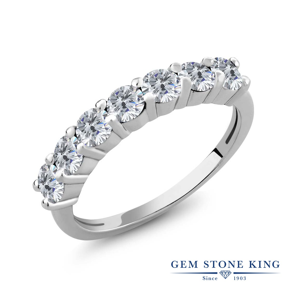 【10%OFF】 1.05カラット 天然 ダイヤモンド 指輪 リング レディース シルバー925 ダイヤ 小粒 バンド 天然石 4月 誕生石 プレゼント 女性 彼女 妻 誕生日