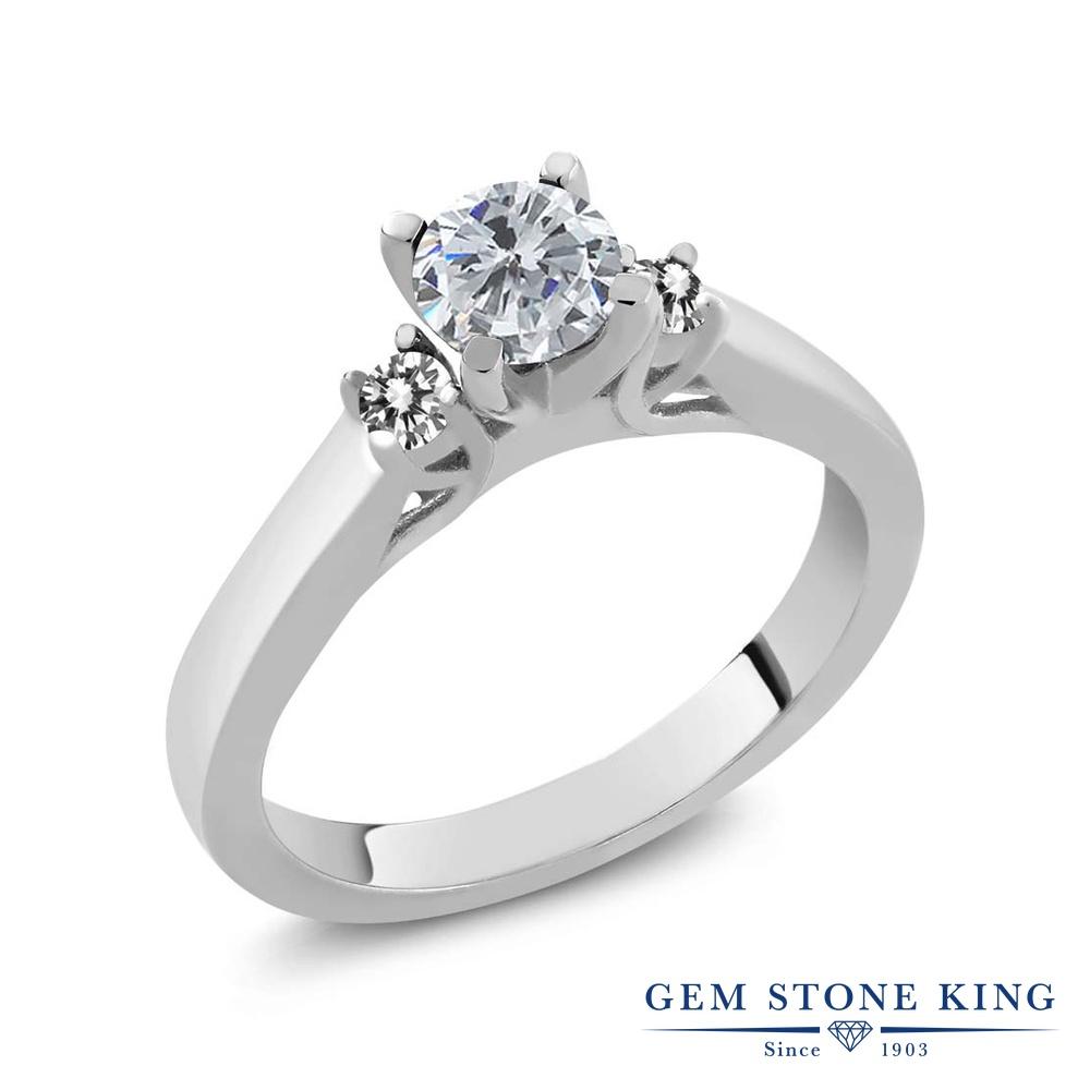 【10%OFF】 0.63カラット 天然 ダイヤモンド 指輪 レディース リング シルバー925 ブランド おしゃれ スリーストーン ダイヤ 小粒 シンプル 天然石 4月 誕生石 プレゼント 女性 彼女 妻 誕生日