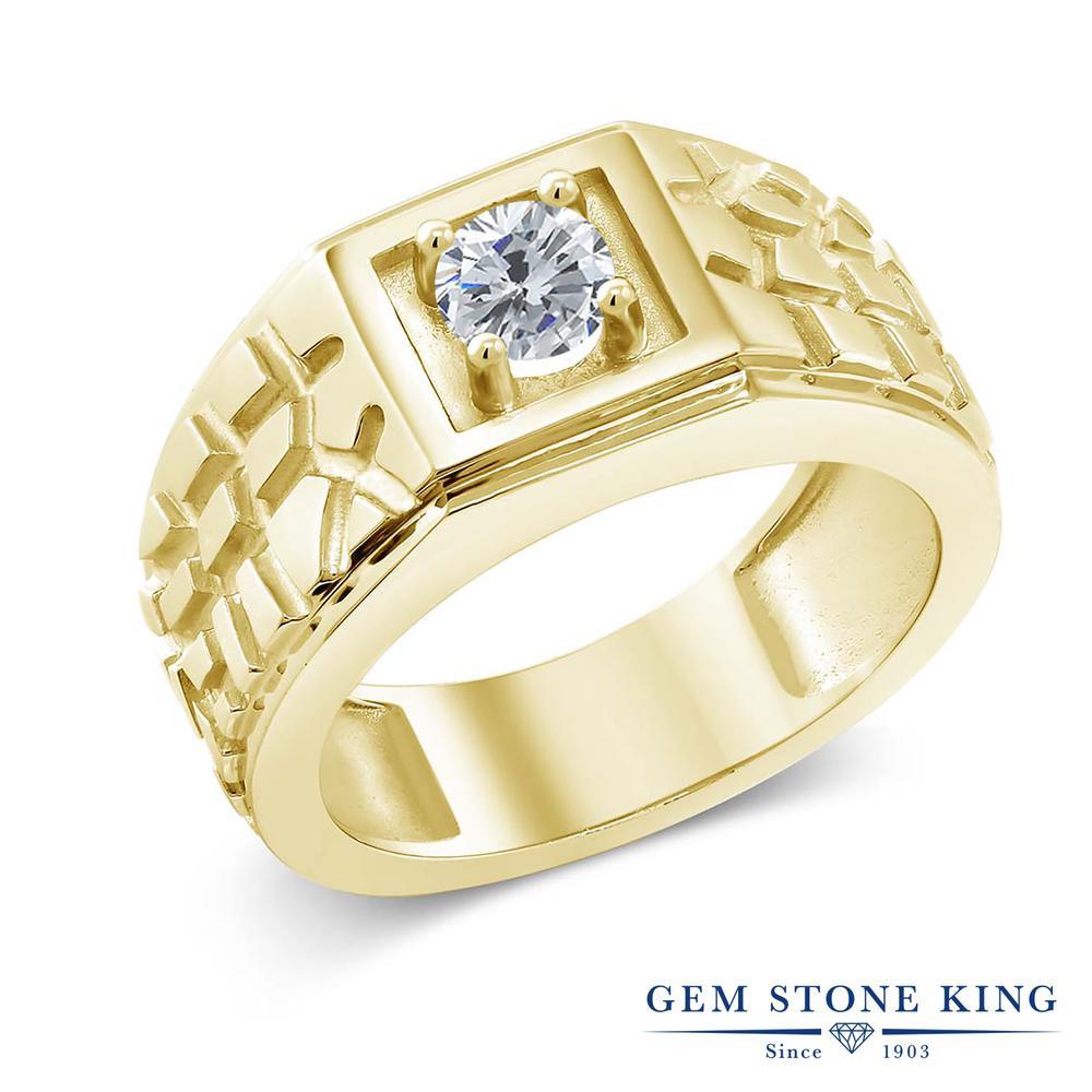 0.5カラット 天然 ダイヤモンド 指輪 レディース リング イエローゴールド 加工 シルバー925 ブランド おしゃれ 四角い 一粒 ダイヤ 小粒 シンプル 太め 太い ソリティア 天然石 4月 誕生石 プレゼント 女性 彼女 妻 誕生日