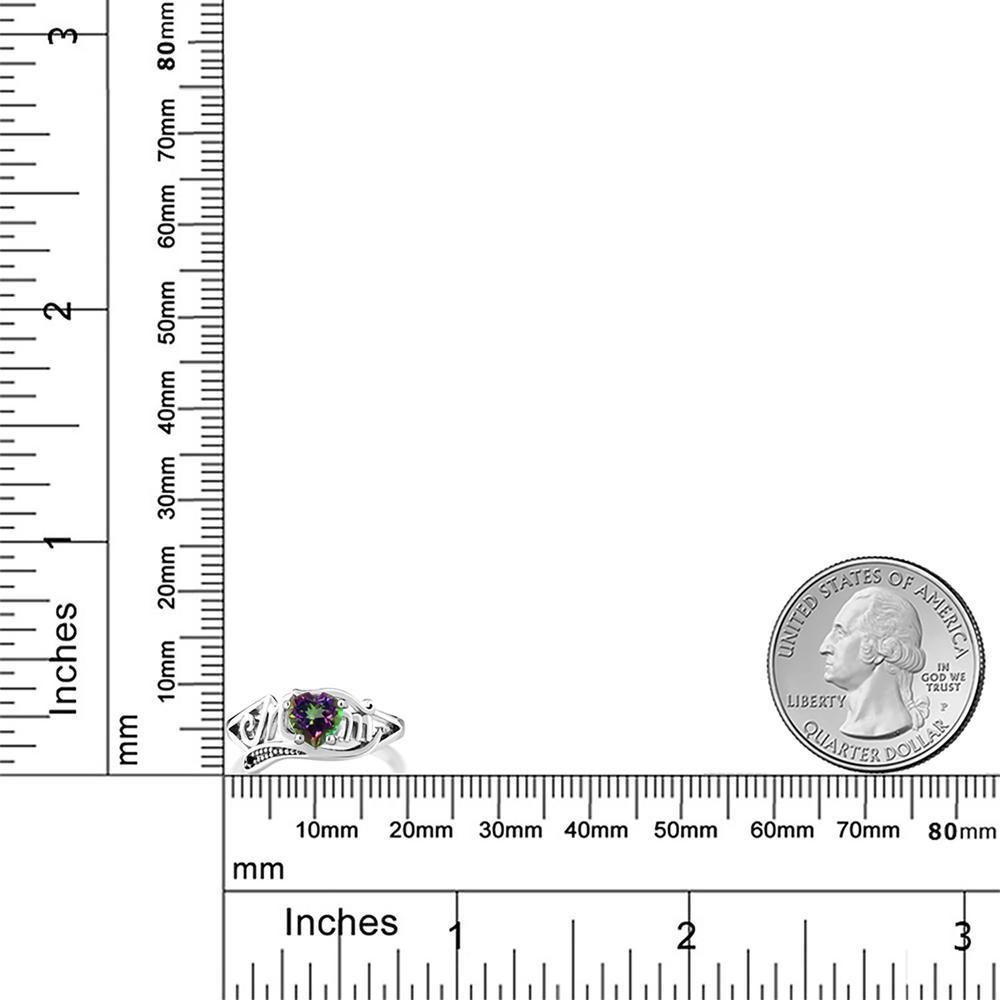 0 96カラット 天然石 ミスティックトパーズ グリーン10金 ホワイトゴールド K10天然ブラックダイヤモンド 指輪De9IEbW2YH