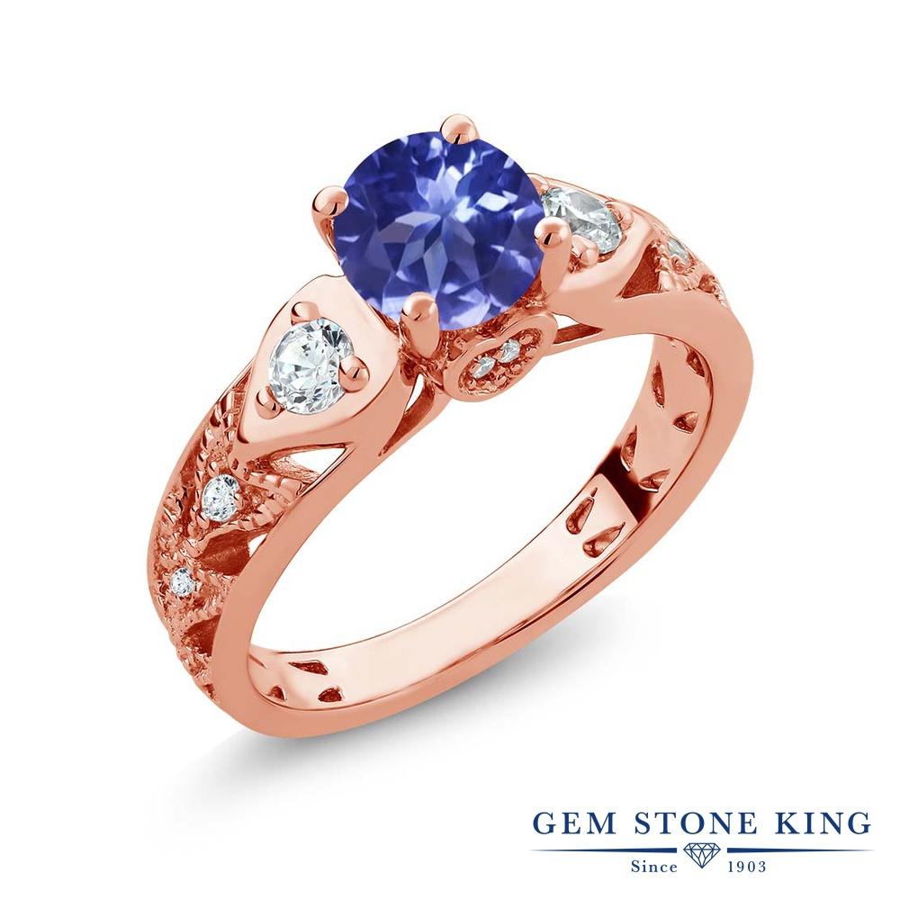 Gem Stone King 2.06カラット シルバー925 ピンクゴールドコーティング 指輪 リング レディース マルチストーン 天然石 金属アレルギー対応 誕生日プレゼント