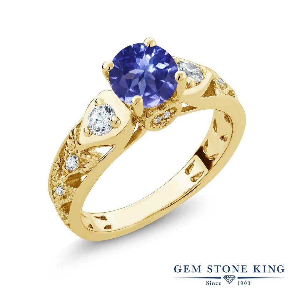【10%OFF】 Gem Stone King 2.06カラット 指輪 リング レディース シルバー925 イエローゴールド 加工 マルチストーン 天然石 クリスマスプレゼント 女性 彼女 妻 誕生日