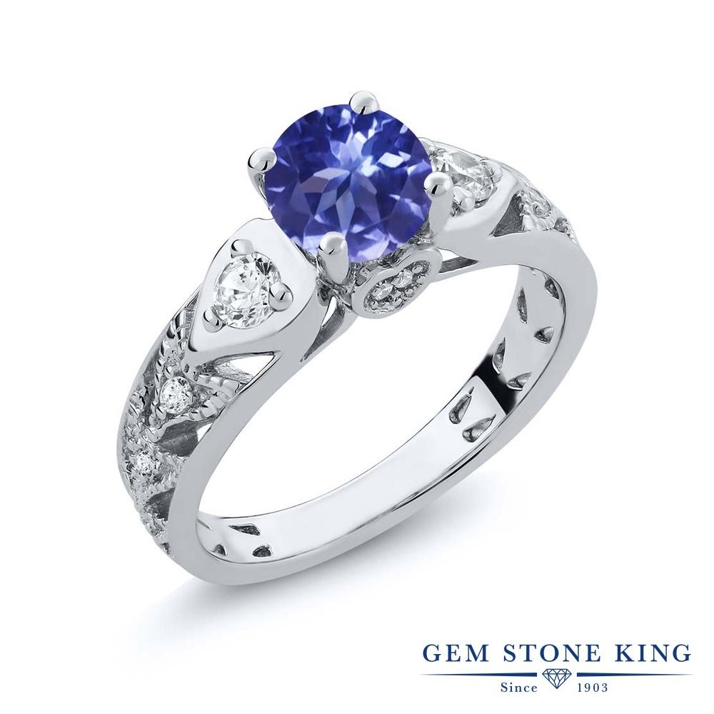 Gem Stone King 2.16カラット シルバー925 指輪 リング レディース マルチストーン 天然石 金属アレルギー対応 誕生日プレゼント