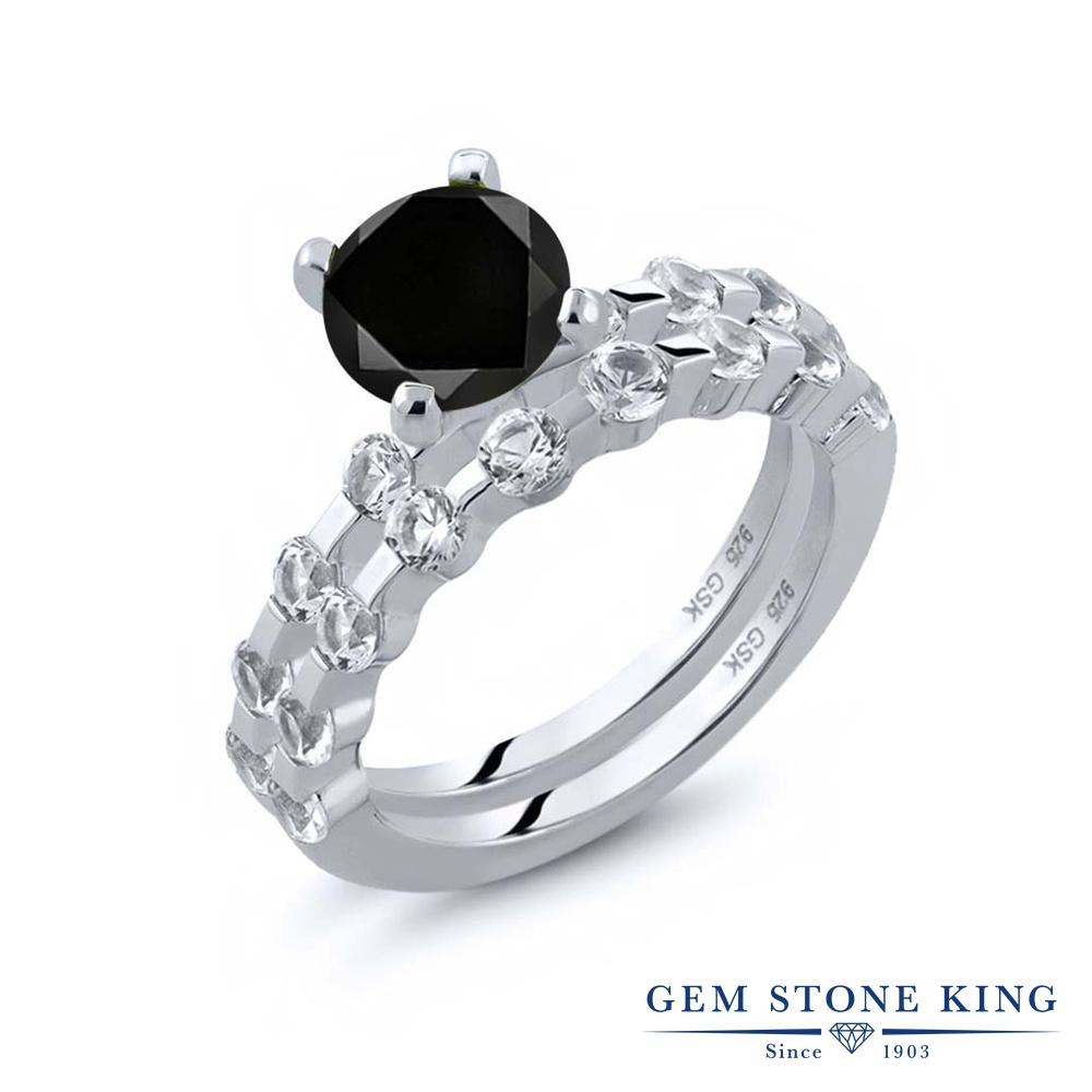 2.63カラット ブラックダイヤモンド 指輪 レディース リング 天然 トパーズ シルバー925 ブランド おしゃれ ブラック ダイヤ 黒 大粒 天然石 4月 誕生石 プレゼント 女性 彼女 妻 誕生日