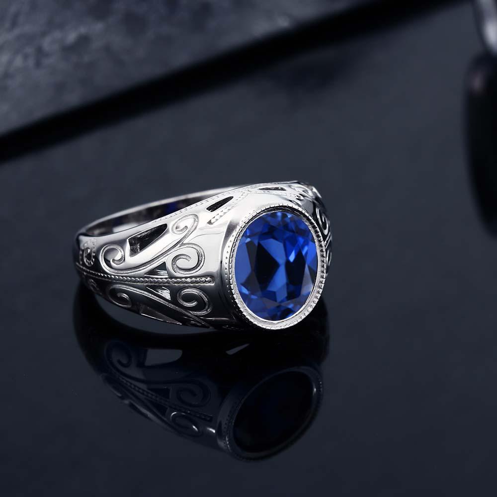 6 13カラット 合成サファイア 指輪 レディース リング シルバー925 ブランド おしゃれ 一粒 青 大粒 シンプル ソリティア 金属アレルギー対応VSGqpMUz