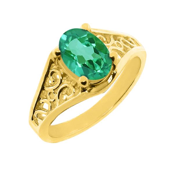 【クーポンで10%OFF】 Gem Stone King 2.2カラット 14金 イエローゴールド(K14) 指輪 リング レディース 一粒 シンプル ソリティア 天然石 11月 誕生石 金属アレルギー対応 誕生日プレゼント