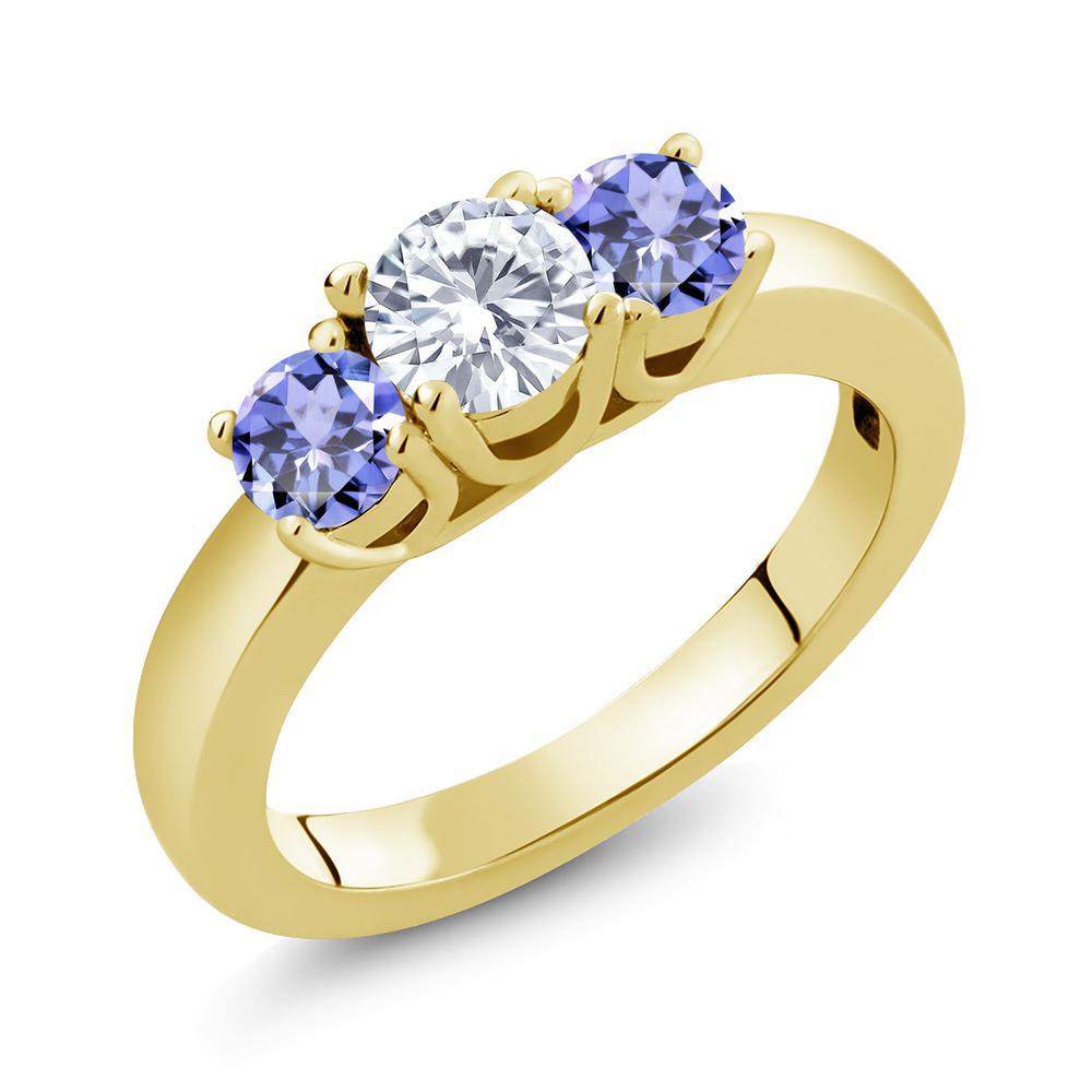 [宅送] 1.1カラット Forever One GHI Charles モアッサナイト Charles & Colvard 指輪 シンプル 天然石 タンザナイト 14金 イエローゴールド(K14) 指輪 レディース リング 小粒 シンプル 誕生日プレゼント 母の日, 志摩市:bc9d9f9a --- superbirkin.com