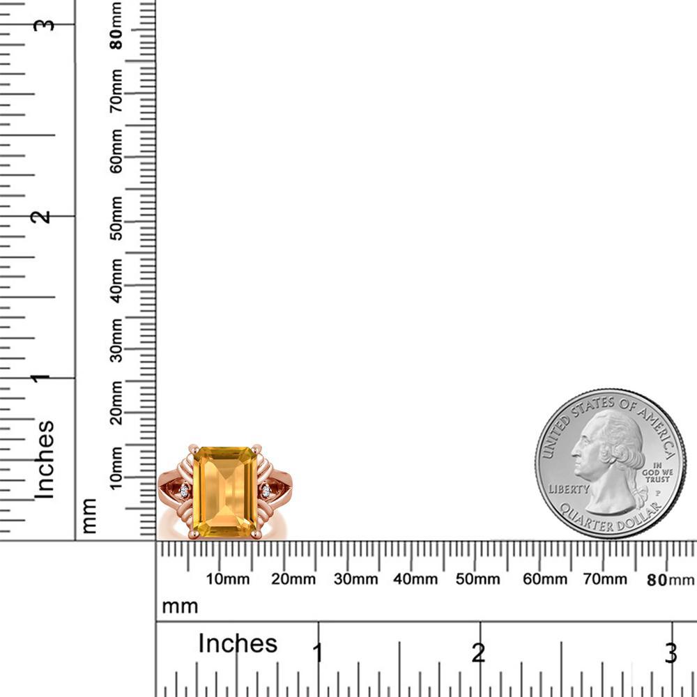 8 03カラット 天然 シトリン 合成ホワイトサファイアダイヤのような無色透明シルバー925 ピンクゴールドコーティング 指輪 レディース リング 大粒 シンプル カクテル 天然石 誕生石 金属アレルギー対応 誕生日プレゼントZiPXOuk