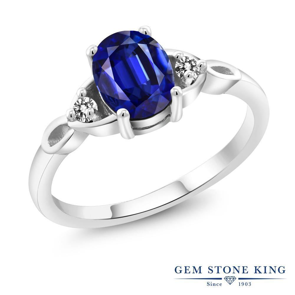 1.82カラット 天然 カイヤナイト (ブルー) 指輪 レディース リング ダイヤモンド シルバー925 ブランド おしゃれ 青 大粒 シンプル スリーストーン 天然石 プレゼント 女性 彼女 妻 誕生日
