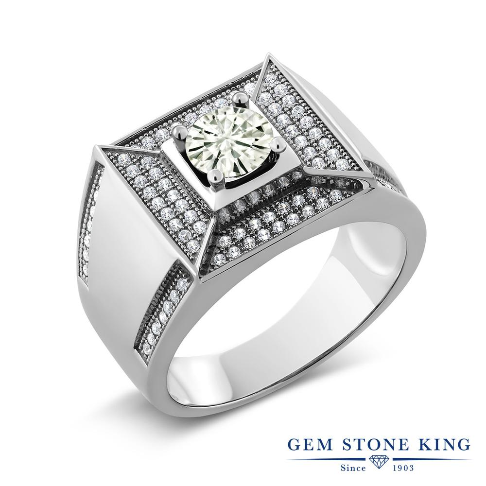 【10%OFF】 Gem Stone King 1.9カラット Forever Classic モアサナイト Charles & Colvard 指輪 リング レディース シルバー925 モアッサナイト クリスマスプレゼント 女性 彼女 妻 誕生日