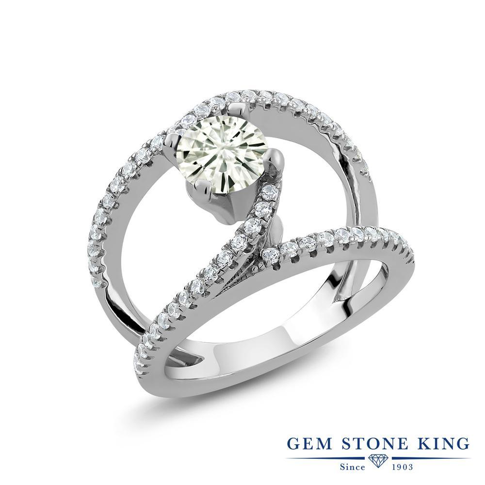 【10%OFF】 Gem Stone King 1.38カラット Forever Classic モアサナイト Charles & Colvard 指輪 リング レディース シルバー925 モアッサナイト カクテル クリスマスプレゼント 女性 彼女 妻 誕生日