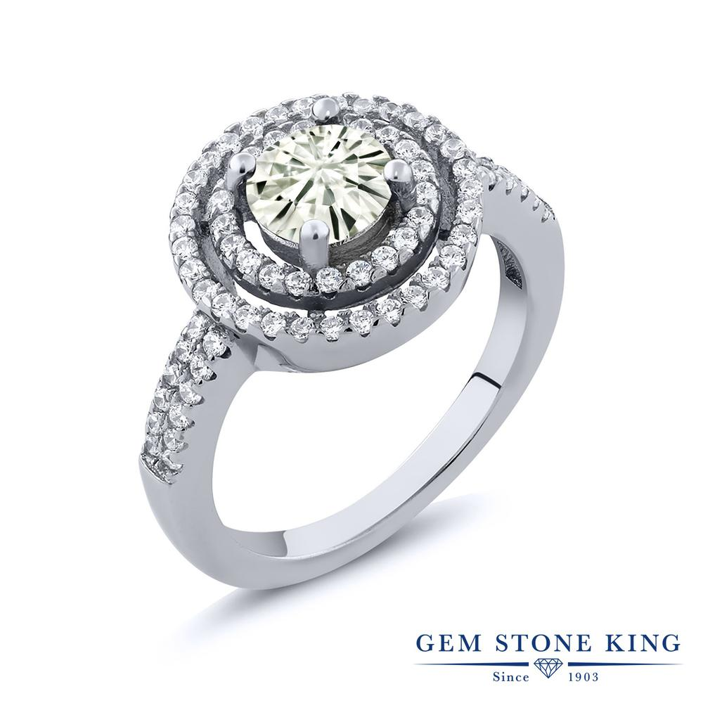 【10%OFF】 Gem Stone King 1.76カラット Forever Classic モアサナイト Charles & Colvard 指輪 リング レディース シルバー925 モアッサナイト クリスマスプレゼント 女性 彼女 妻 誕生日