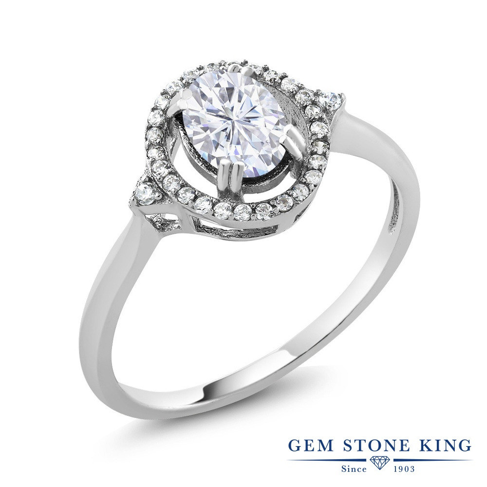 【10%OFF】 Gem Stone King 1.21カラット Forever Brilliant モアサナイト Charles & Colvard 指輪 リング レディース シルバー925 モアッサナイト クリスマスプレゼント 女性 彼女 妻 誕生日