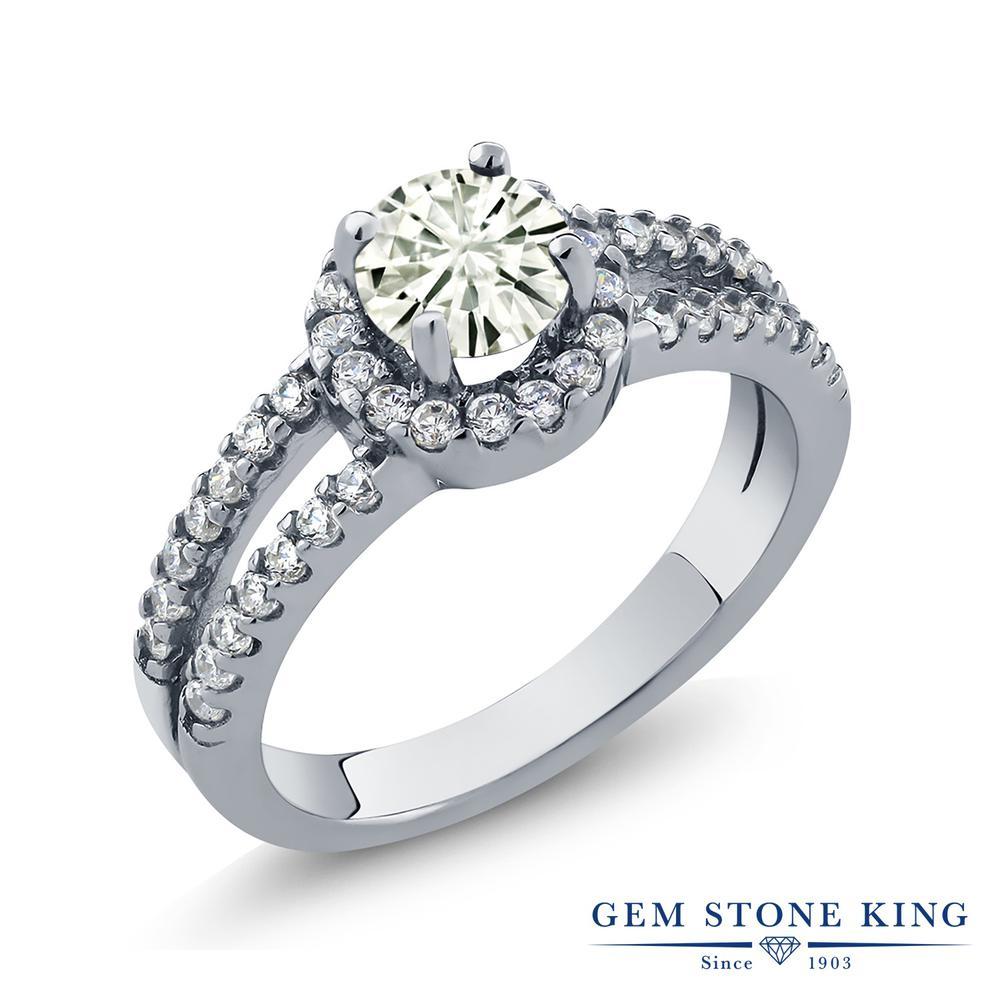 【10%OFF】 Gem Stone King 1.35カラット Forever Classic モアサナイト Charles & Colvard 指輪 リング レディース シルバー925 モアッサナイト クリスマスプレゼント 女性 彼女 妻 誕生日