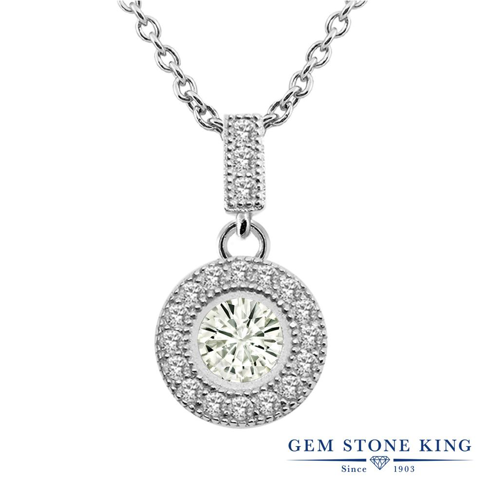 Gem Stone King 1.03カラット Forever Classic モアサナイト Charles & Colvard シルバー925 ネックレス ペンダント レディース モアッサナイト 金属アレルギー対応 誕生日プレゼント