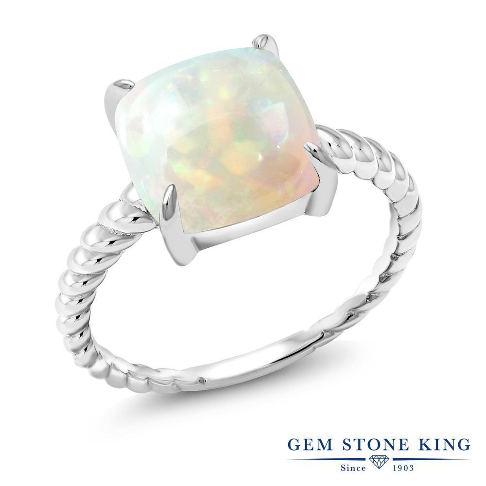 【10%OFF】 Gem Stone King 2.58カラット 天然 エチオピアンオパール 指輪 リング レディース シルバー925 大粒 一粒 シンプル ソリティア 天然石 クリスマスプレゼント 女性 彼女 妻 誕生日