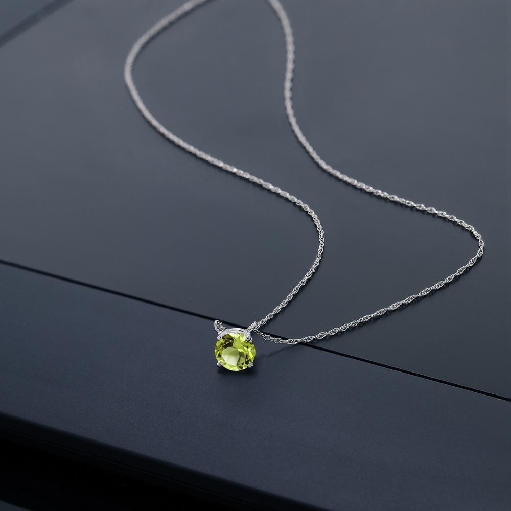 0 55カラット 天然石 ペリドット ネックレス レディース 18金 ホワイトゴールド K18 ブランド おしゃれ 一粒 緑 シンプル 小ぶり 小さめ 8月 誕生石 プレゼント 女性 彼女 妻 誕生日O8Xn0wPk