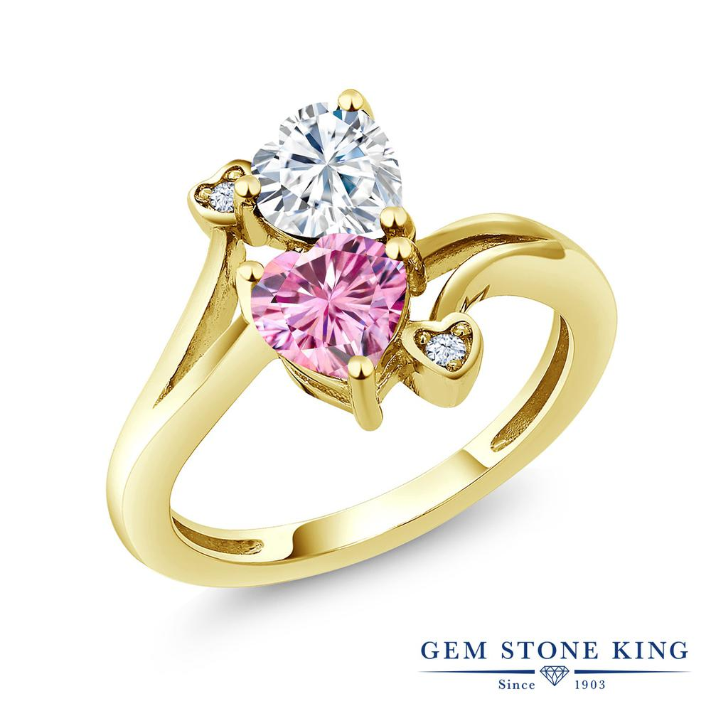 【10%OFF】 Gem Stone King 1.63カラット Forever Brilliant モアサナイト Charles & Colvard 指輪 リング レディース シルバー925 イエローゴールド 加工 モアッサナイト クリスマスプレゼント 女性 彼女 妻 誕生日