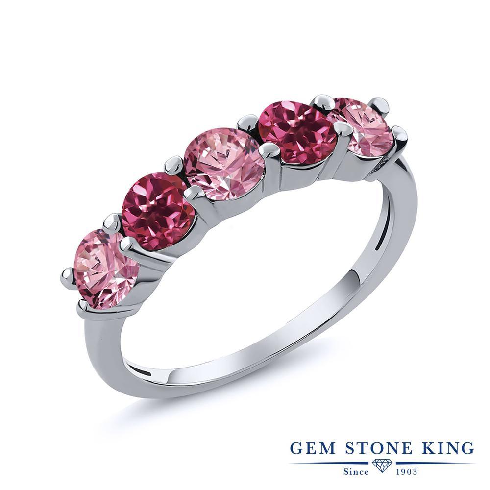 リング レディース 人気 品質保証 ブランド 女性 プレゼント 0.84カラット 合成ピンクダイヤモンド 指輪 天然 ピンクトルマリン ダイヤ おすすめ ピンク おしゃれ 小粒 妻 シルバー925 お返し 5連 ホワイトデー 彼女 誕生日