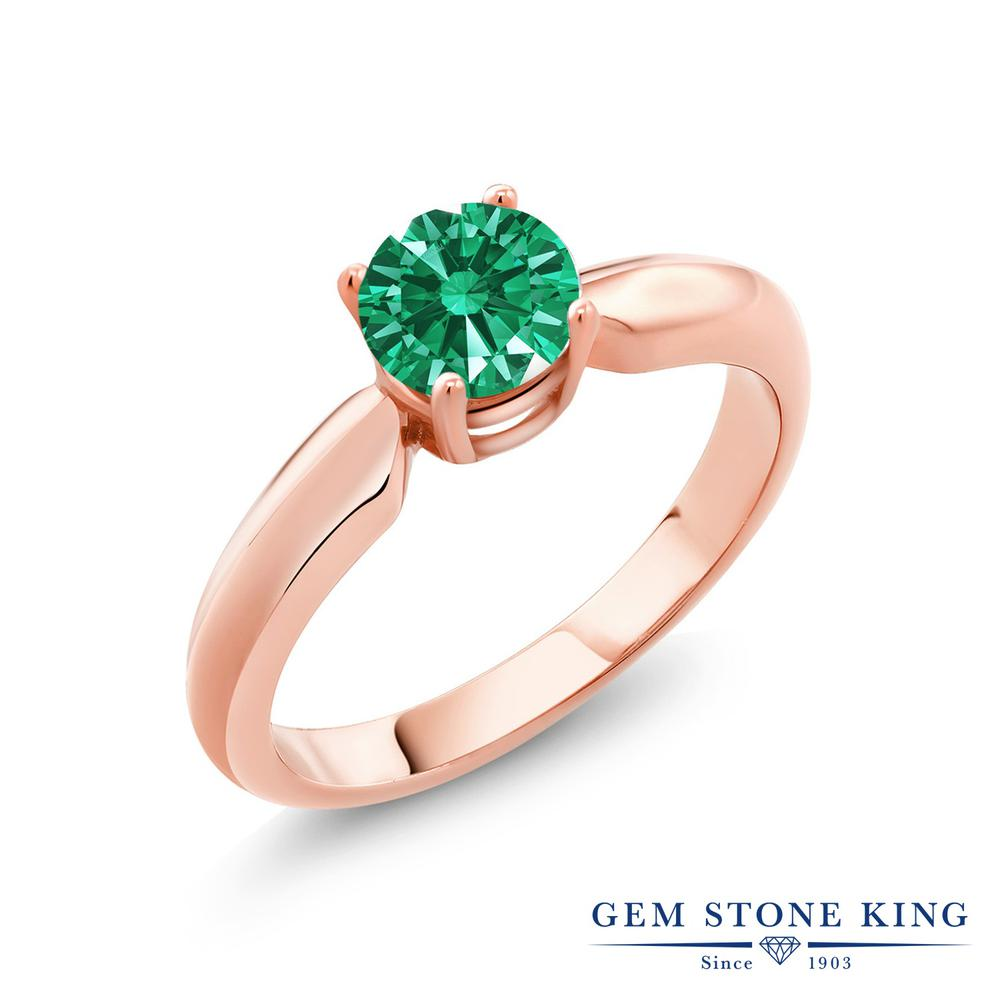 スワロフスキージルコニアグリーン指輪 レディース リング ピンクゴールド 加工 シルバー925 ブランド おしゃれ 一粒 CZ 緑 小粒 シンプル ソリティア 金属アレルギー対応Xn8wPk0O