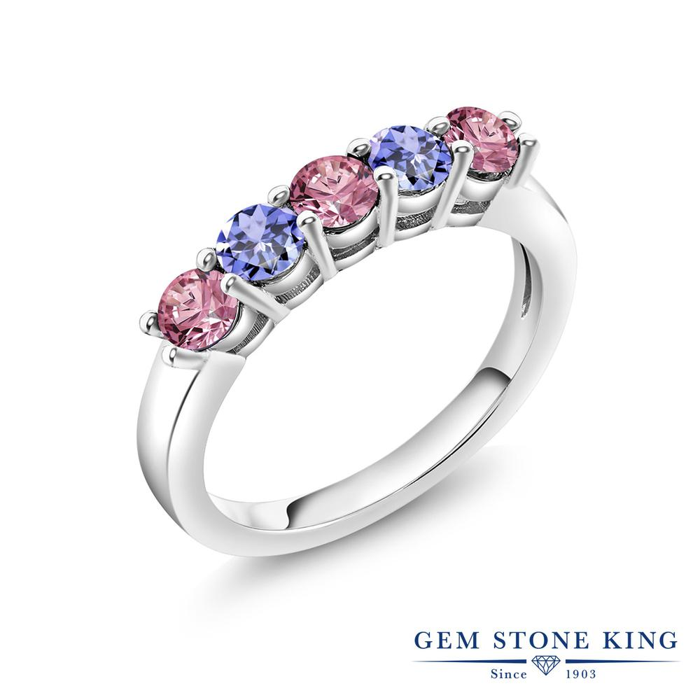 日本 リング レディース 人気 ブランド 女性 プレゼント 0.9カラット メーカー公式 合成ピンクダイヤモンド 指輪 天然石 タンザナイト シルバー925 ホワイトデー ダイヤ 5連 おしゃれ 彼女 お返し ピンク 小粒 妻 バンド 誕生日