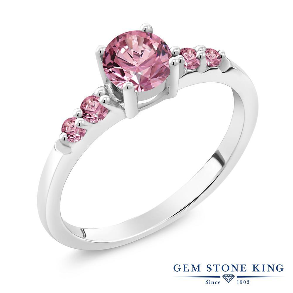 0.65カラット 合成ピンクダイヤモンド 指輪 レディース リング シルバー925 ブランド おしゃれ ピンク ダイヤ 小粒 マルチストーン プレゼント 女性 彼女 妻 誕生日 最安値,得価