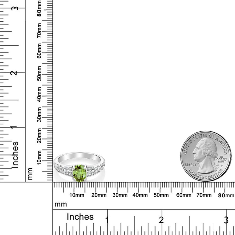 1 9カラット 天然石 ペリドット 指輪 レディース リング シルバー925 ブランド おしゃれ オーバル パヴェ 緑 大粒 派手 ダブルストーン 8月 誕生石 金属アレルギー対応HIWDYE2e9b