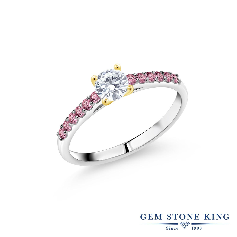 0.68カラット 合成ダイヤモンド 指輪 レディース リング ブランド おしゃれ 一粒 パヴェ ダイヤ 小粒 マルチストーン 婚約指輪 エンゲージリング