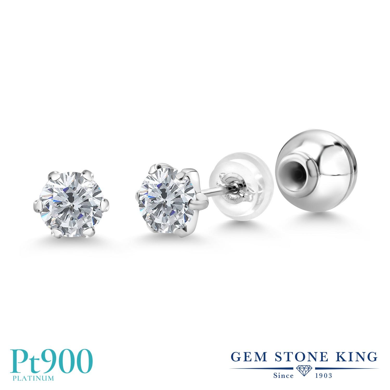 シンプル 4月 天然石 誕生石 おしゃれ 天然 ダイヤモンド ピアス セカンドピアス 1カラット 金属アレルギー対応 レディース ダイヤ 一粒 プラチナ 小粒 Pt900 スタッド ブランド