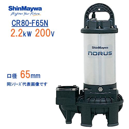 新明和 樹脂製水中ポンプ CR80-F65N 2.2kW 200V 口径65mm フランジ接続 新明和工業製排水ポンプ ノーラスシリーズ