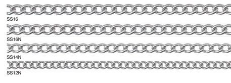 ステンレスチェーンショートマンテルリール巻チェーン(R-SS12N)線径:1.2mm×長さ30m参考使用荷重:6.0kg