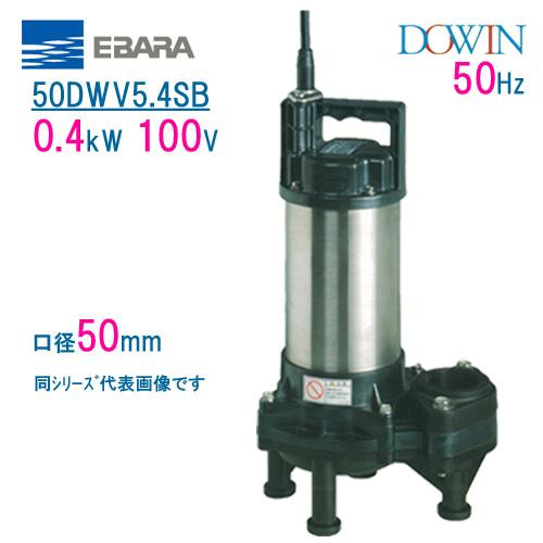 エバラ 樹脂製汚水・汚物用水中ポンプ 50DWV5.4SB 0.4kW 100V 50Hz 口径50mm 荏原製作所製水中ポンプ EBARA ダーウィン DOWIN
