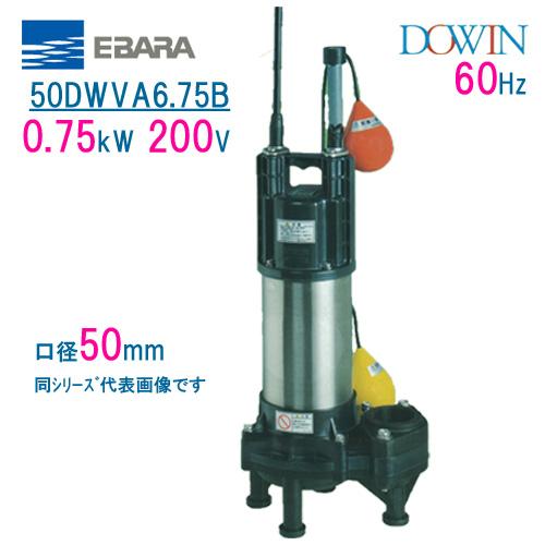 【正規逆輸入品】 DOWIN:現場の安全 標識・保安用品 エバラ 樹脂製汚水・汚物用水中ポンプ 50DWVA6.75B 0.75kW 200V 60Hz 口径50mm 自動形 フロートスイッチ付 荏原製作所製水中ポンプ EBARA ダーウィン-DIY・工具