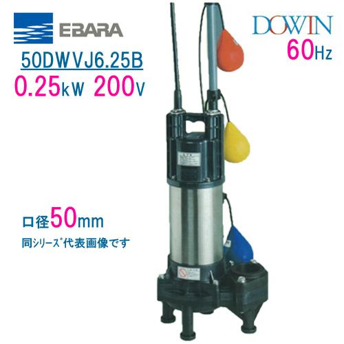 エバラ 樹脂製汚水・汚物用水中ポンプ 50DWVJ6.25B 0.25kW 200V 60Hz 口径50mm 自動交互形 フロートスイッチ付 荏原製作所製水中ポンプ EBARA ダーウィン DOWIN