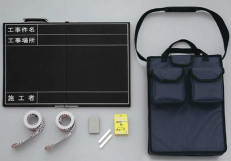 折りたたみ式撮影用黒板セット 373-94 (黒板・収納バッグ・チョーク・リボンロッド)