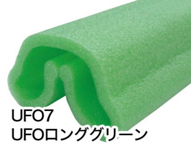 エムエフ UFO 7 グリーン 1700L【60本セット】有効幅100~180mm 長さ1700mm 養生カバー 柱養生 玄関まわり 縦地 開口部 養生 ユーフォー【K】