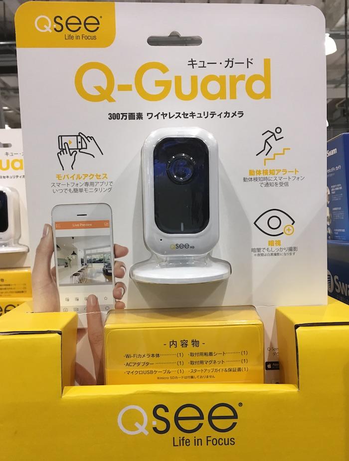 コストコ #592944 Q-SEE キュー・ガード ワイヤレスセキュリティカメラ 1台 300万画素 Wi-Fi スマホから確認可 防犯カメラ 送料無料【Z】