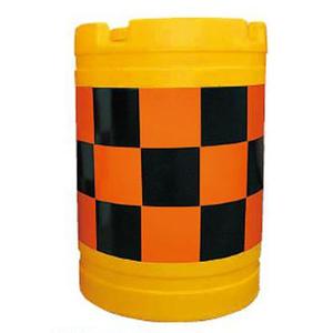 【安全興業】バンパードラム(PE製) KHB-4【橙黒】【高輝度反射】※代引き不可商品※【K】
