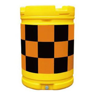 【安全興業】AZクッションドラム(PE製) AZC-003【橙黒】【プリズム反射】※代引き不可商品※【K】