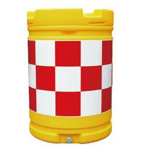 【安全興業】AZクッションドラム(PE製) AZC-005【赤白】【プリズム反射】※代引き不可商品※【K】