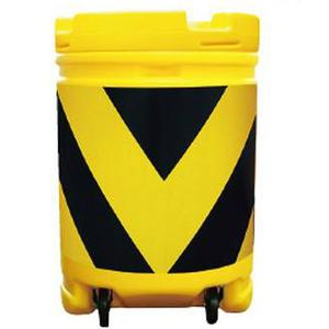 【安全興業】AZクッションドラム コロ付(PE製) AZCK-002【黄黒】※代引き不可商品※【K】