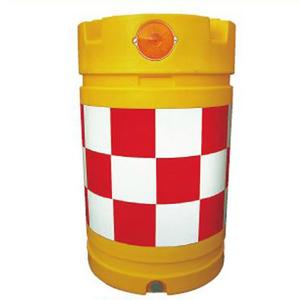 【安全興業】デリネーター付ドラム君(PE製) KDD-2【赤白】※代引き不可商品※【K】