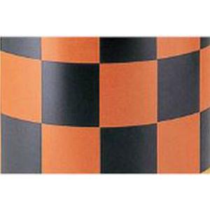 【安全興業】ドラムオプション 補修用ステッカー KEY-558【橙黒】【高輝度反射】【3枚1組】※代引き不可商品※【K】