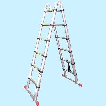 【送料無料】 アルミ 伸縮兼用 はしご ASK-380【K】