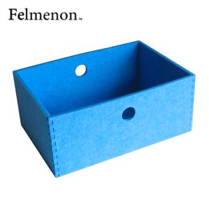 【増税による値上げはしていません】【送料無料】【フェルメノン】HOZO BOX(M) ブルー 5個セット 【フェルト 収納 雑貨】【代引不可】【LI】