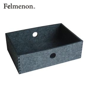 【増税による値上げはしていません】【送料無料】【フェルメノン】HOZO BOX(S) ダークグレー 5個セット 【フェルト 収納 雑貨】【代引不可】【LI】